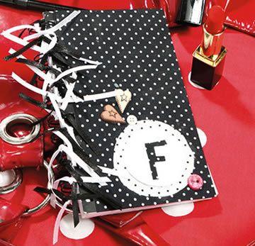 Como fazer um caderno decorado com tecido