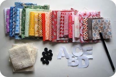 letras em tecido