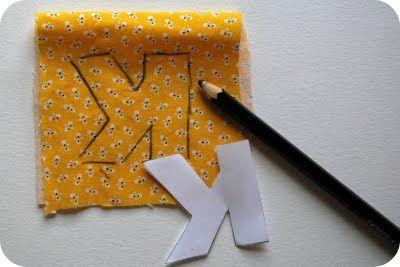 recortando molde em tecido