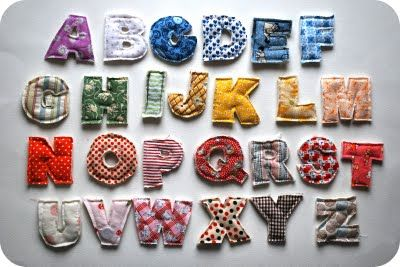 alfabeto em tecido pronto