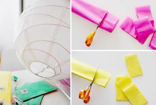 Como fazer decoraç u00e3o com papel crepom -> Decoração De Papel Crepom Como Fazer