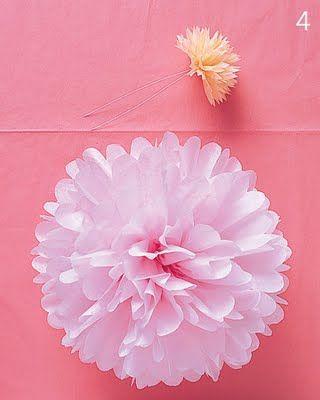 Como fazer bolas com papel de seda