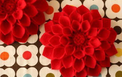 Flor de feltro 1