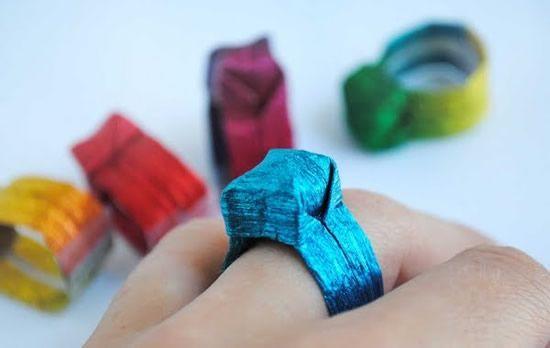 como fazer anel de origami para seu amor no dia dos namorados