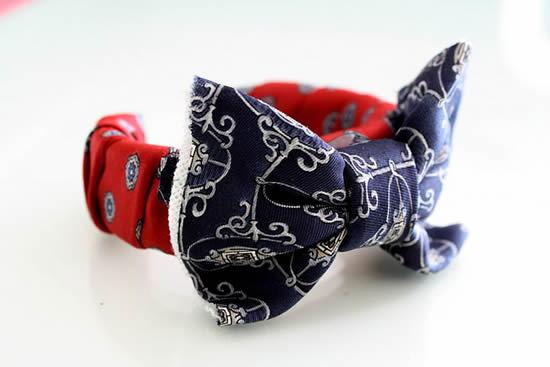 bracelete de tecido com laço