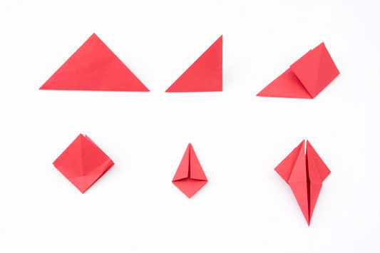 Decoração com origami tsuru passo a passo
