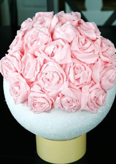 flores de papel crepom coladas