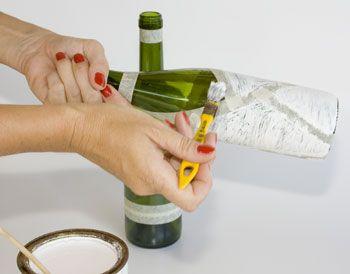 Como decorar garrafas passo a passo