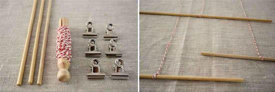 palitos e presilhas para pendurar os mobiles