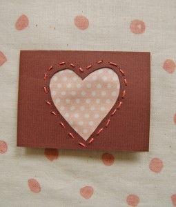 Cartão de papel para presente do dia dos namorados