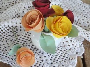 Rosas de Papel Passo a passo