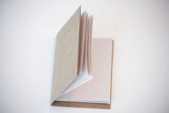 Bloco de notas artesanal