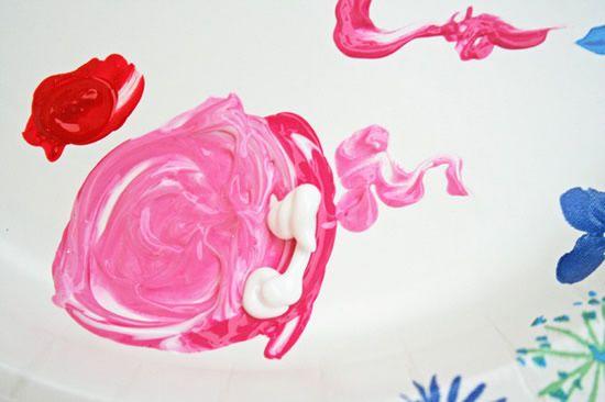 mistura da tinta para pintura de tecido