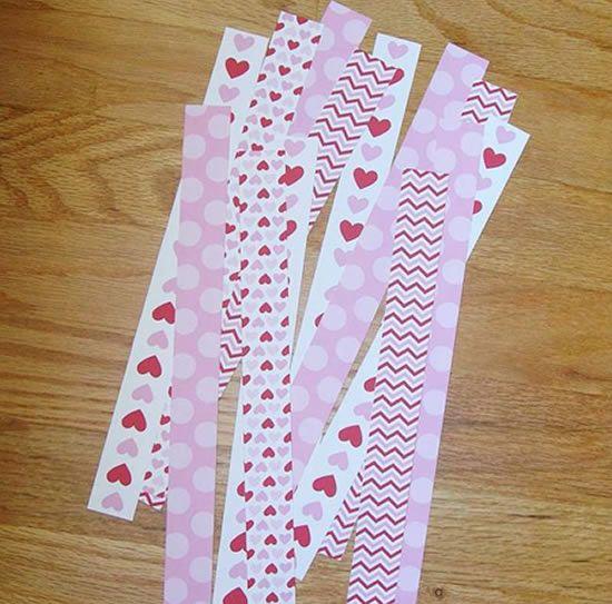 Papéis cartões cortados