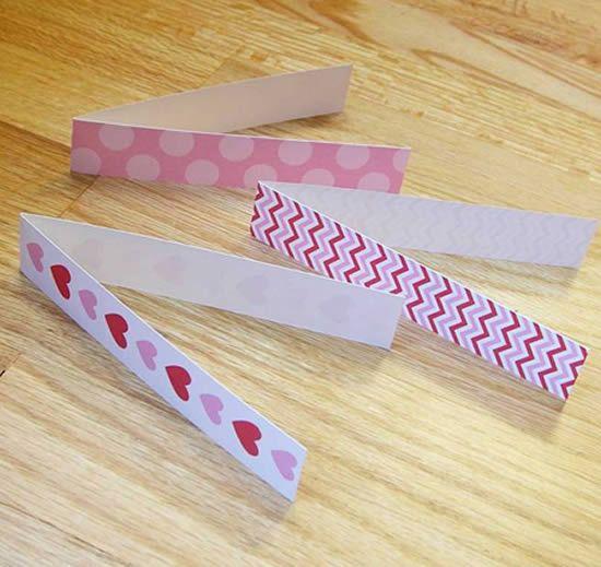 Papéis cartões dobrados