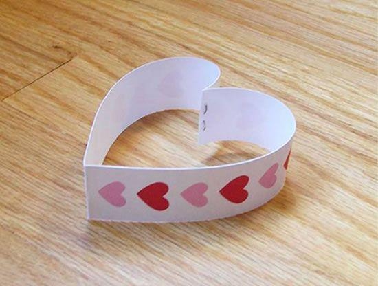 Coração de papel cartão