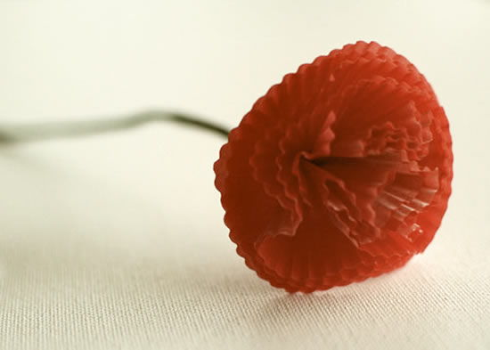 Artesanato com forminhas de cupcake