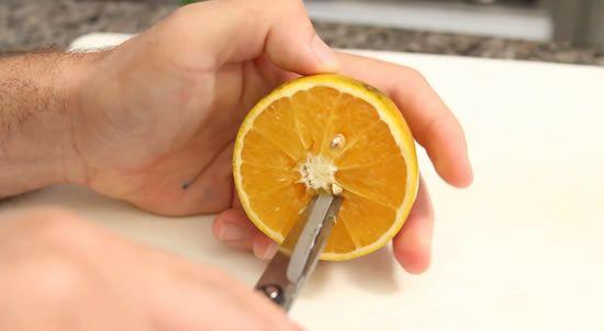 secando a laranja