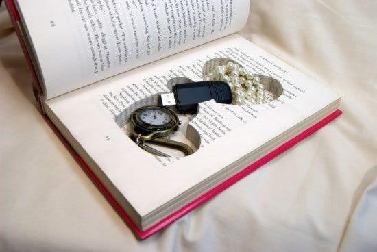 Artesanato com livro velho para guardar trecos