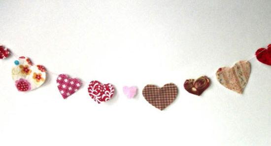 Corações para decoração