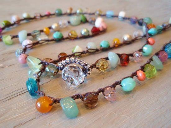 Pedrinhas de vidro para fazer pulseiras e colares