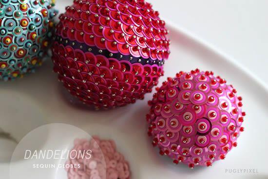 Decoração com bola de isopor