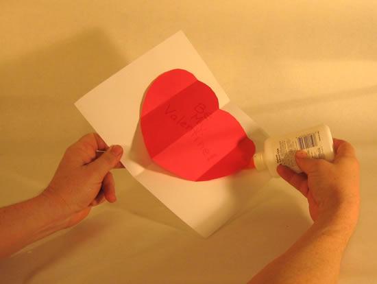 Cartão com coração passo a passo
