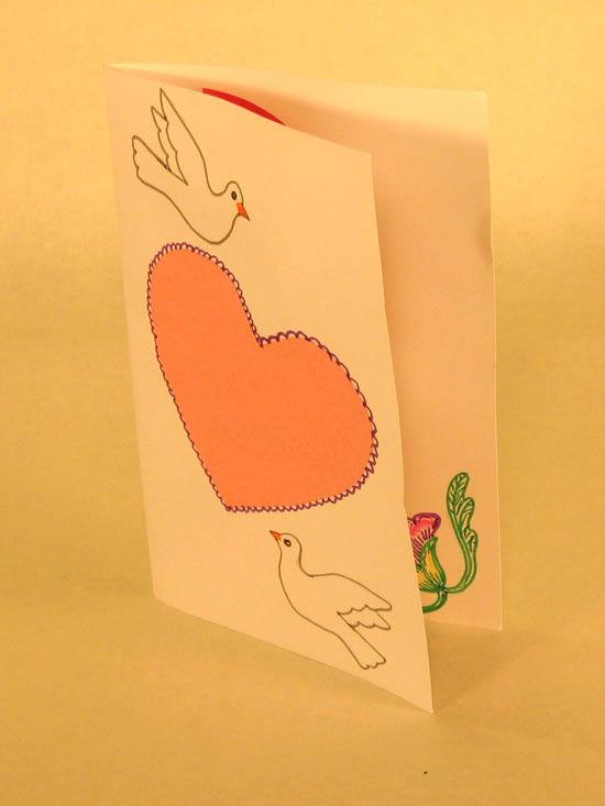 Cartão lindo para a namorada