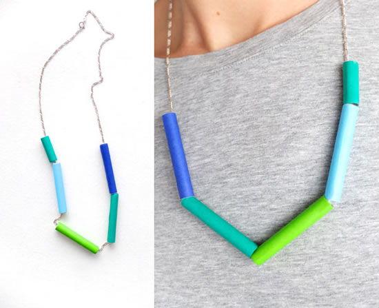 Como fazer colar colorido