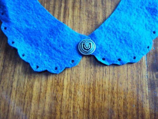 Colocando botão no tecido