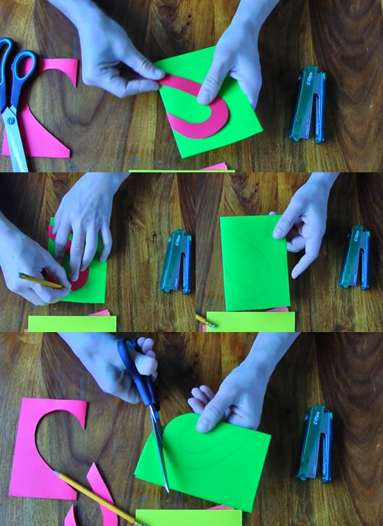 Criando a decoração com papel colorido