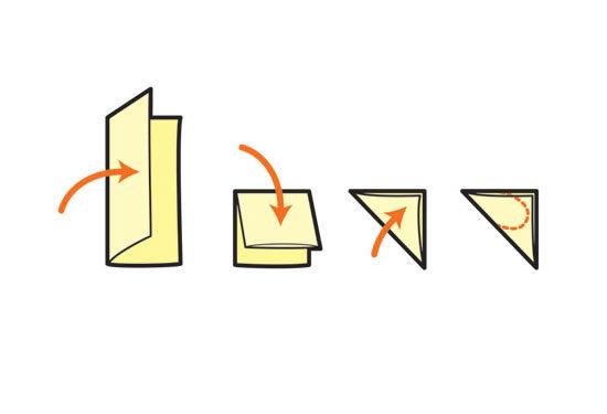 Dobre o papel origami