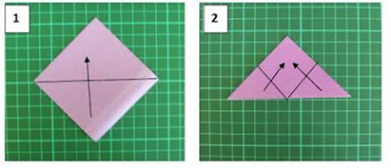 Passo a passo de flor de origami