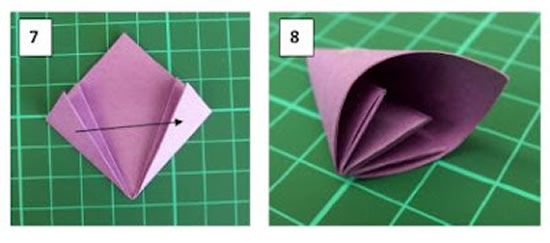 Criando uma flor com a técnica de origami