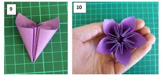 Criando uma linda flor com papel