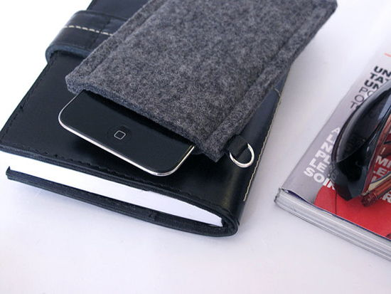 Capinha de celular iphone feita com feltro