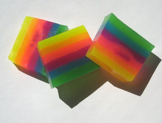 sabonete multicolorido