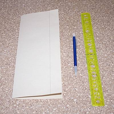 Compondo a decoração de papel cartão