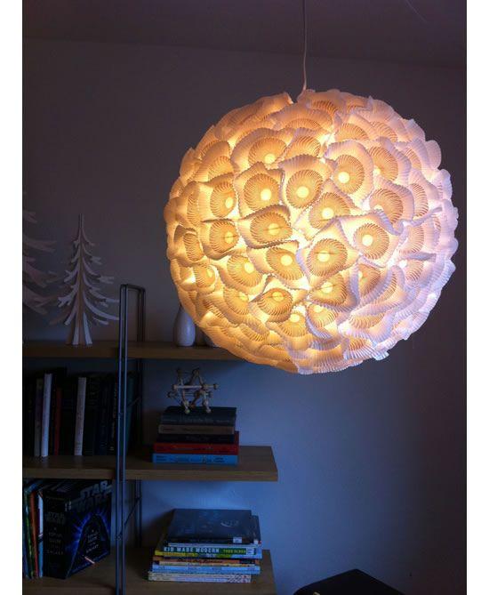 Luminária acesa