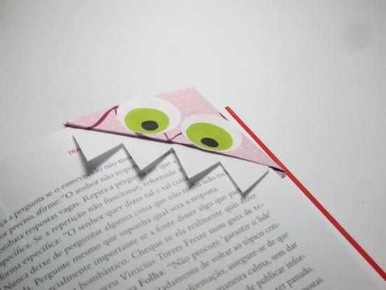 Marcador de livro de papel passo a passo