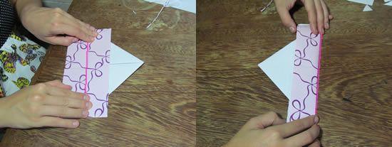 Confeccionando o marcador de papel