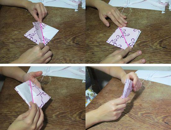 Fazendo artesanato em casa com papel