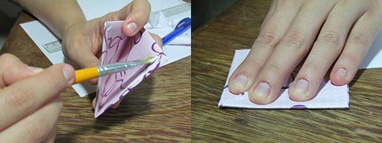 Colando o marcador de papel