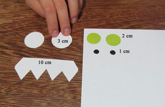 Marcador de papel detalhes dos itens