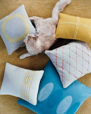 travesseiros de feltro