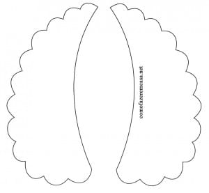 Molde para fazer colar de tecido