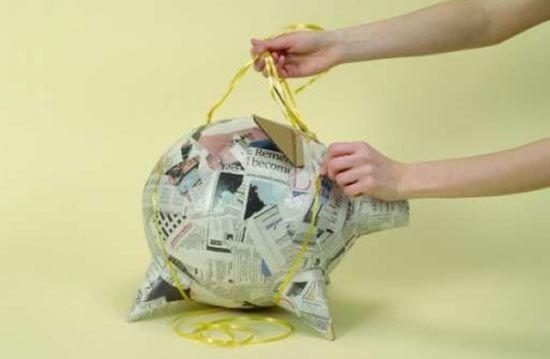 Criando o porquinho para decoração