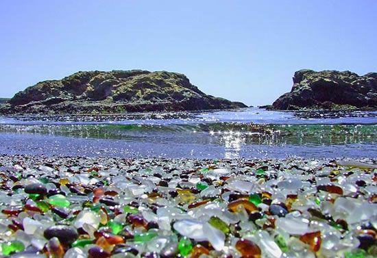 Praia de Vidro nos EUA