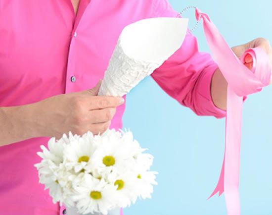 Confecção de um lindo ramalhete de flores