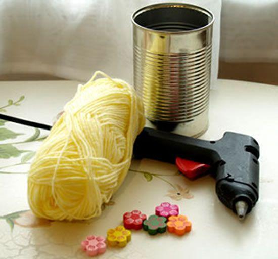 Como fazer artesanato com lata de leite
